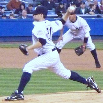 Ian Kennedy - Kennedy pitching for the New York Yankees in 2008