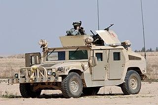 Humvee military utility vehicle
