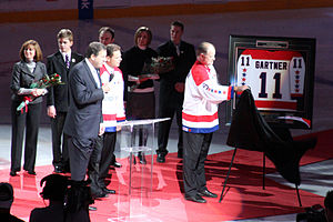 Mike Gartner - Gartner has his number retired by the Washington Capitals in 2008.