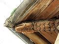 086 Can Cavaller (Monistrol de Montserrat), cap de biga sota el ràfec.JPG