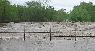 One Hundred and Two River - One Hundred and Two River after breaching dam at Maryville during May 2007 flood.