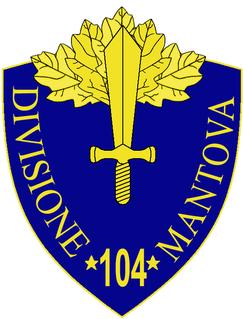 104th Infantry Division Mantova