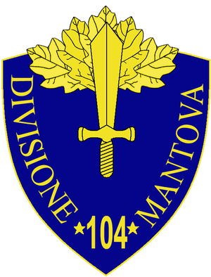 104th Infantry Division Mantova - 104th Infantry Division Mantova Insignia