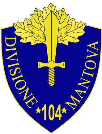 104th Infantry Division Mantova - 104th Infantry Division Mantova Insignia