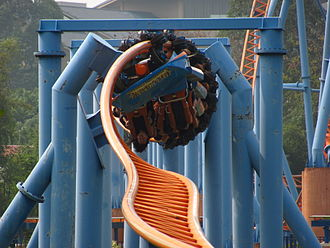 10 Inversion Roller Coaster - 10 inversion Roller Coaster's Heartline Rolls