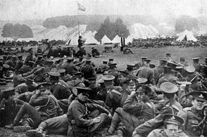 Kitchener's Army - A Church of England service at the 10th (Irish) Division's camp at Basingstoke in 1915