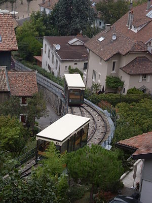 Funiculaire de Thonon-les-Bains - Cars at the passing loop