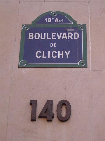 LE BON NUMERO - Page 8 360px-140_Boulevard_de_Clichy%2C_Paris_14_April_2006
