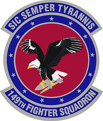 Sic semper tyrannis - The Insignia of the 149th Fighter Squadron