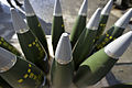 155mm High Explosive Ammunition for the 105mm Light gunbeing used during on Exercise Steel Sabre. MOD 45158568.jpg