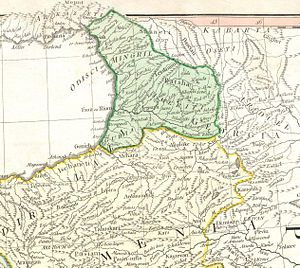 "Nigali valley - A portion of d'Anville's 1794 map identifying the then-Ottoman-controlled Livâne in Georgian name Liganis Khevi, ""the Ligani valley""."