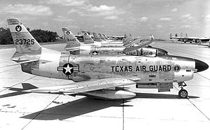 181st Airlift Squadron - 181st FIS F-86D Interceptors, 1958