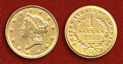 1852 $1 US Liberty Head Gold Piece (New Orleans).jpg