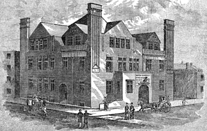 Boston Dispensary - The Dispensary's central clinic on Bennett St., built 1883