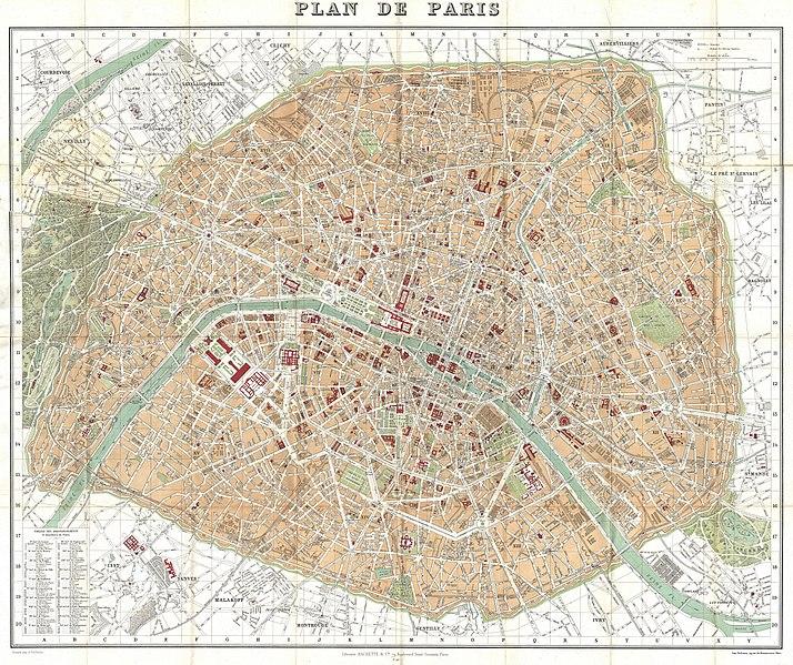 Fichier:1892 Hachette Plan or Pocket Map of Paris, France - Geographicus - Paris-hachette-1892.jpg