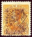 1900 2B Venezuela Resellada RTM used Mi66 Yv70.jpg