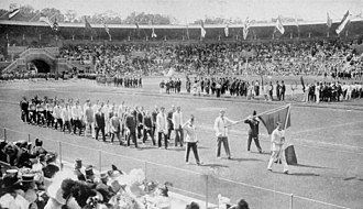 France at the 1912 Summer Olympics - The team of France at the opening ceremony.