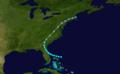 1915 Atlantic tropical storm 1 track.png