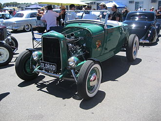 Roadster (automobile) - Hot rod based on a Ford Model A roadster