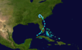 1934 Atlantic tropical storm 1 track.png