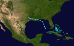 1955 Atlantic tropical storm 5 track.png