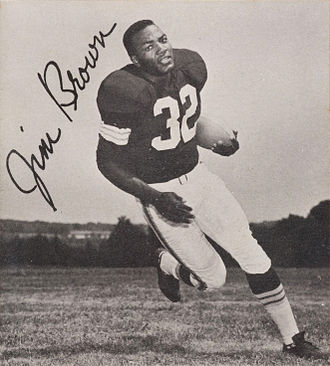 Cleveland Browns - Former Browns FB Jim Brown was a prominent member of the 1964 NFL championship team, the team's all-time leader in rushing yards, and a Pro Football Hall of Fame member. He is currently a special advisor with the Browns.