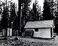 1963. The building used as a field laboratory by Charles Sartwell during 1963 for Ips oregonis studies at Pringle Falls Experimental Forest. La Pine, Oregon. (38675326522).jpg