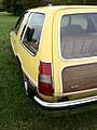 1977 AMC Pacer DL station wagon yellow-g Mason-Dixon Dragway 2014.jpg