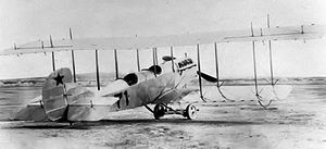 Columbus Municipal Airport (New Mexico) - A 1st Aero Squadron Curtiss R–2, Signal Corps No. 71, at Columbus, New Mexico, 1916