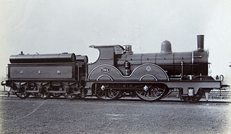 GER Class T19 - Oil-burning T19 No. 761, one of the class frequently used for powering Royal trains. It was not rebuilt, being withdrawn in 1908.