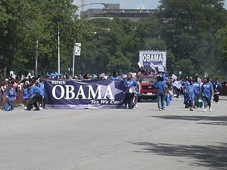 2004 United States Senate elections - Obama-for-Senate float at the 2004 Bud Billiken Parade and Picnic