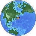 2007Jan13 East of Kuril Islands Earthquake USGS-Globe.jpg
