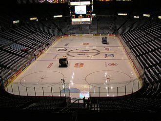 Pacific Coliseum - Towels laid out on each seat at the Pacific Coliseum prior to the 2007 Memorial Cup final.