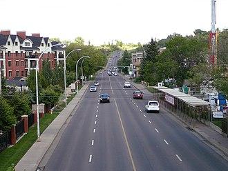 97/98/101 Avenue, Edmonton - Looking east along 98 Avenue