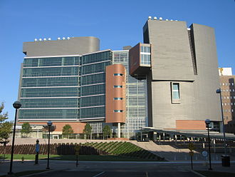 University of Cincinnati Academic Health Center - CARE/Crawley Building (constructed in 2008), along with the adjacent Medical Sciences Building, houses the University of Cincinnati College of Medicine.