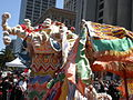 2008 Olympic Torch Relay in SF - Dragon dance 04.JPG