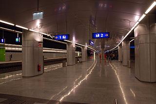 Vienna Airport railway station train station in Lower Austria