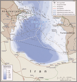 2009 Iran southern Caspian energy prospects by the CIA.png