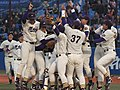 20111127 Meiji University Baseball Club at Meiji Jingu Stadium.JPG