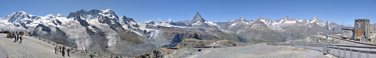 282 Grad Panorama vom Gornergrat (August 2012).