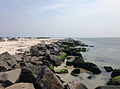 2013-08-21 12 47 50 View southeast along the jetty on the north shore of Barnegat Inlet in Island Beach State Park.jpg