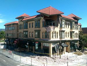 2014 South Napa earthquake - Damaged Alexandria Square building in Napa