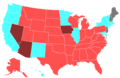 2014 United States House of Representatives Election by Change in the Majority Political Affiliation of Each State's Delegations From the Previous Election.png