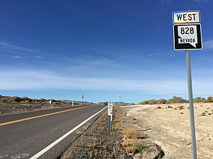 Nevada State Route 828 - View at the east end of SR 828 looking westbound
