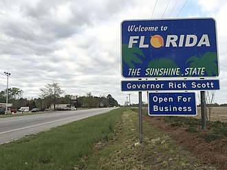 Florida State Road 97 - View south from the north end of SR 97