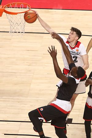 T. J. Leaf - Leaf (with the ball) in 2016 McDonald's All-American Game