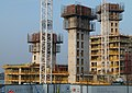 2016 Woolwich, Waterfront construction site 03.jpg