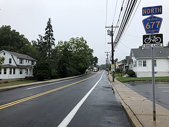North Haledon, New Jersey - CR 677 (High Mountain Road) in North Haledon