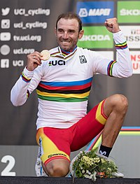 20180930 UCI Road World Championships Innsbruck Men Elite Road Race Alejandro Valverde 850 2213 (cropped).jpg