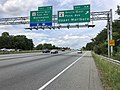 2019-05-27 14 36 32 View north along the outer loop of the Capital Beltway (Interstate 95 and Interstate 495) at Exit 11A (Maryland State Route 4 South-East Pennsylvania Avenue, Upper Marlboro) along the edge of Forestville and Westphalia in Maryland.jpg